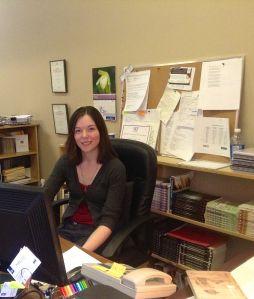 Kelsey Attard at her desk.