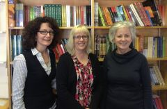 Mary Lou Roy, Cathie Crooks, and Linda Cameron of U of A Press.