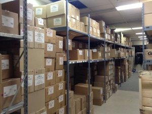 Coteau's storage room.