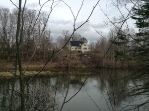 View of the house from across the pond.